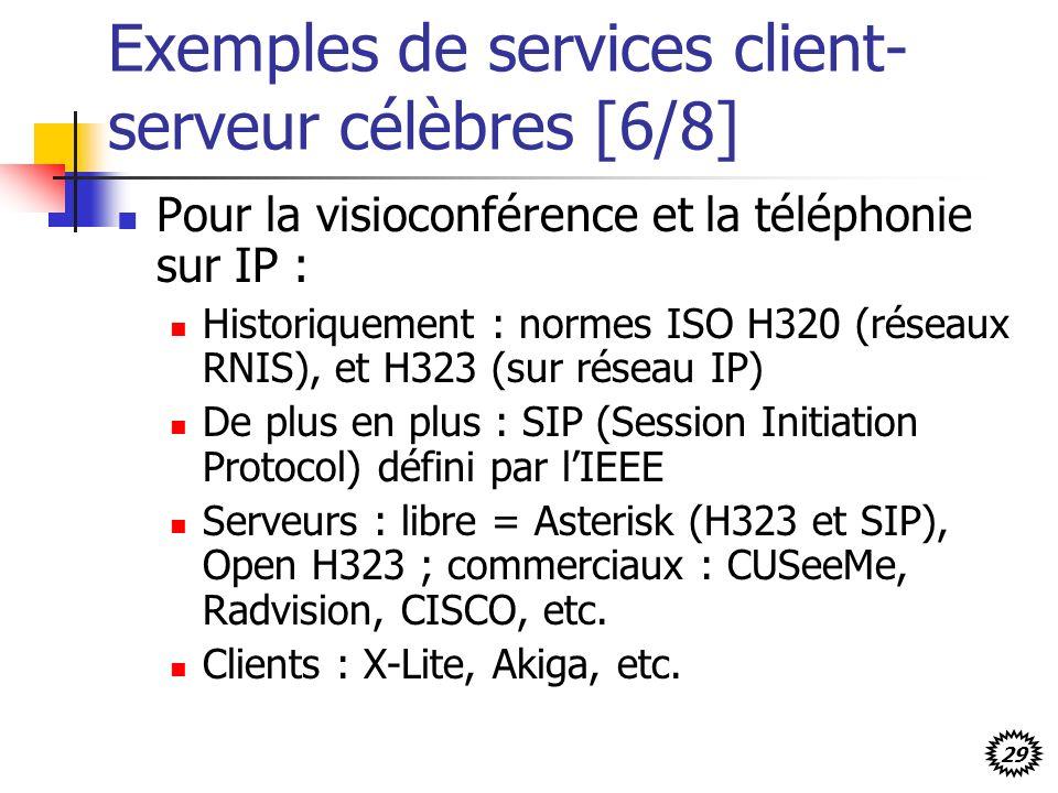 Exemples de services client-serveur célèbres [6/8]